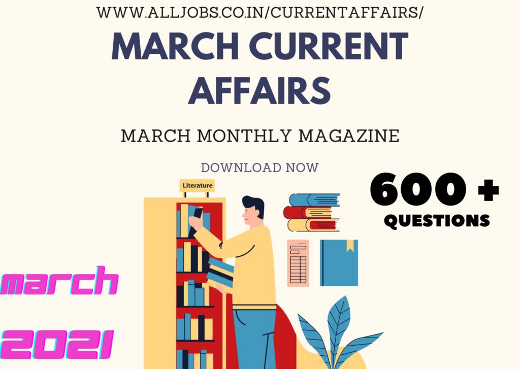 aj current affairs march