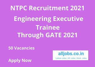 NTPC EET Recruitment