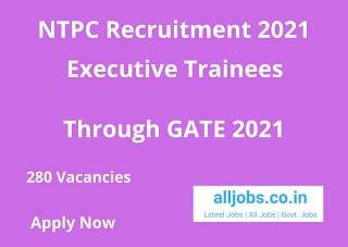 NTPC ET Recruitment